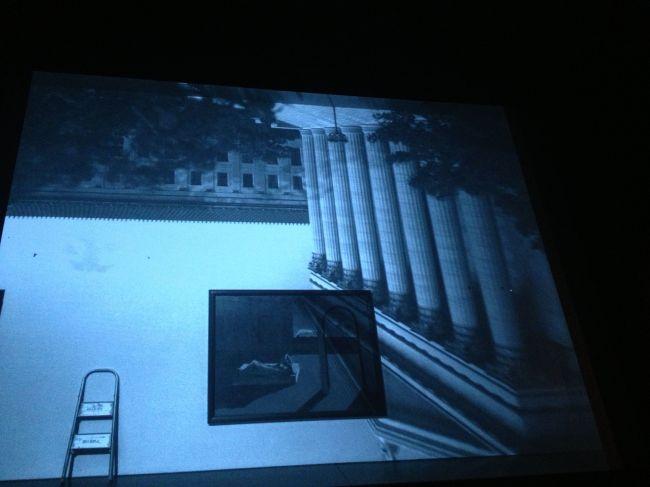 Black and white camera obscura image
