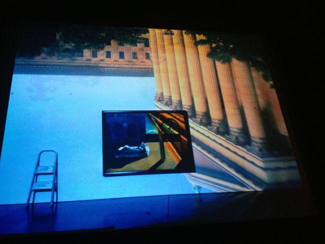 Color camera obscura image