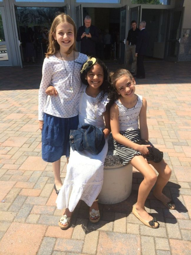 Lia, Layla and Lexi outside Cobb Energy Center