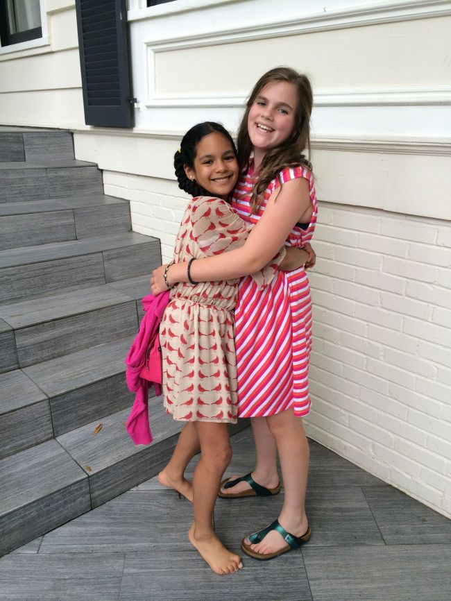 Layla and Isabel After the performance