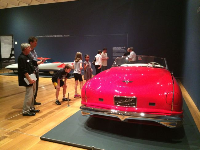 The Posse viewing the Dream Cars Exhibition