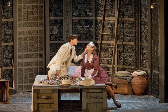 "Isabel Leonard as Cherubino and Marlis Petersen as Susanna in Mozart's ""Le Nozze di Figaro."" Richard Eyre's new production of the opera, conducted by James Levine, opens the Met season on September 22, 2014. Photo: Ken Howard/Metropolitan Opera"