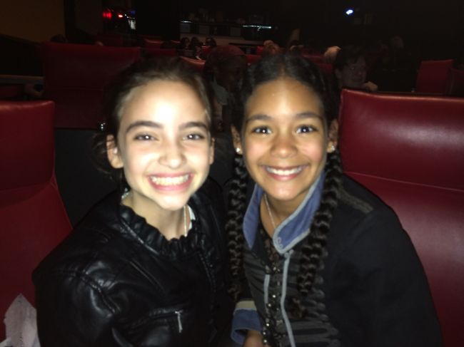 Lexi and Layla in the theater