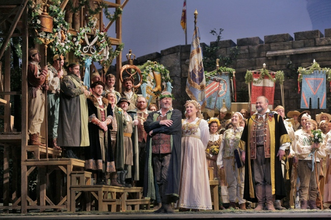 A scene from Wagner's Die Meistersinger von Nürnberg. Photo: Ken Howard/Metropolitan Opera