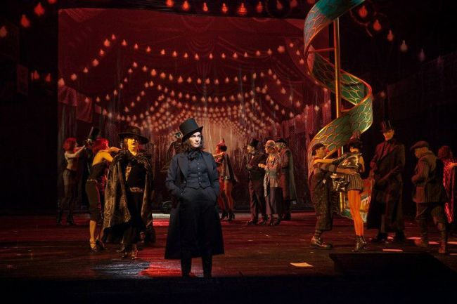 "A scene from Offenbach's ""Les Contes d'Hoffmann"" with Kate Lindsey as Nicklausse. Photo: Ken Howard/Metropolitan Opera"