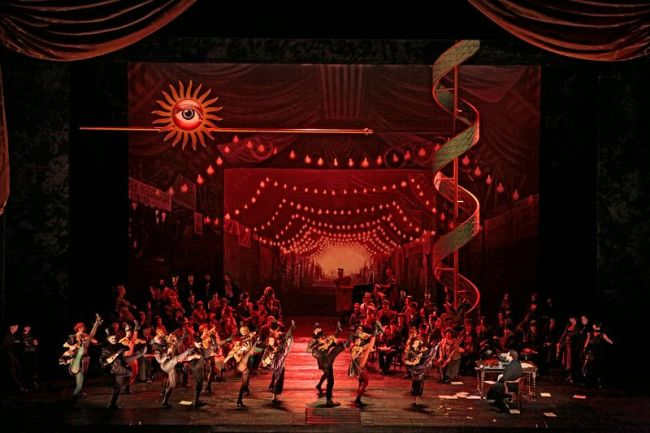 "A scene from Offenbach's ""Les Contes d'Hoffmann."" Photo: Marty Sohl/Metropolitan Opera"