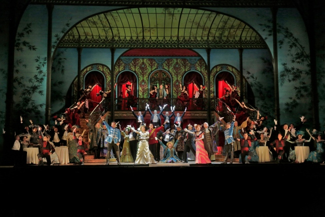 A scene from Lehár's The Merry Widow. Photo credit: Ken Howard/Metropolitan Opera