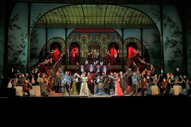 A scene from Lehár's The Merry Widow. Photo credit: Ken Howard/Metropolitan Opera