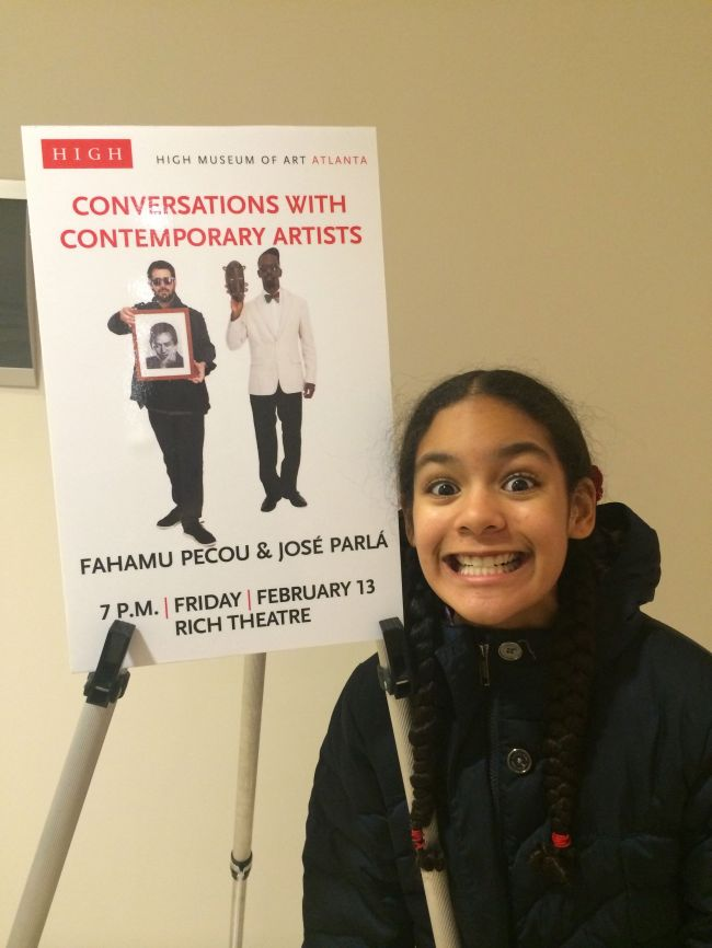 Layla with Lecture Poster