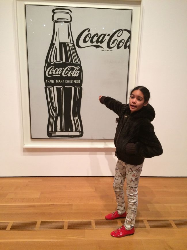 Layla at the Coca-Cola Exhibition opening