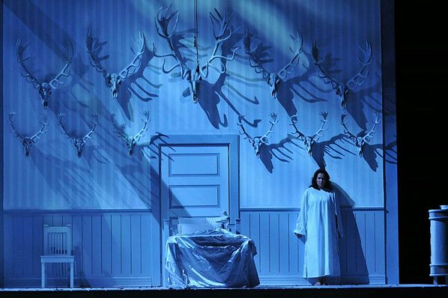 "Peter Tchaikovsky IOLANTA A scene from Tchaikovsky's ""Iolanta"" part of a double bill with Bartók's ""Duke Bluebeard's Castle.""  Baden-Baden Festival photo: Andrea Kremper"