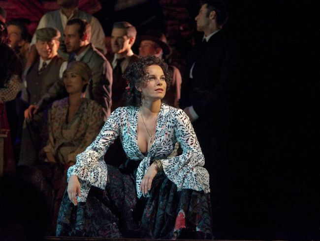 """Elina Garanca in the title role of Bizet's """"Carmen.""""  Photo: Ken Howard/Metropolitan Opera"""